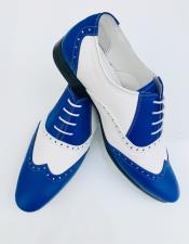 ID#AI28668 Alberto Nardoni Leather Royal Upper Two Toned Wing Tip ~ Wingtip Dress Lace up Oxford Shoe
