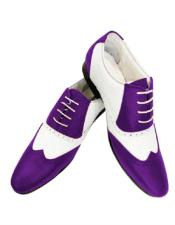 ID#AI28740 1920s Dress Zoot Style 50s Mobster Gangster Spectator Dark Purple Shoe