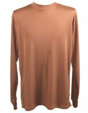Mock Fabric Brown Neck