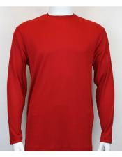 Sleeve Mock Neck Shirts