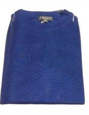 Microfiber Mock Neck Royal