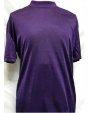 Mock Neck Purple Short