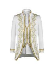 ID#AI28884 Mens White 1920s 1940s Fashion Clothing Lapel Vintage Style Suit