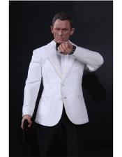 Button James Bond White