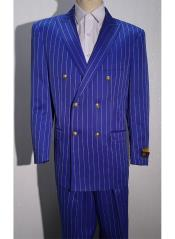 Pinstripe Six Button Mens