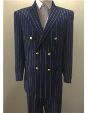 Navy ~ Gold Pinstripe