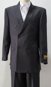 PinStripe Six Button Charcoal