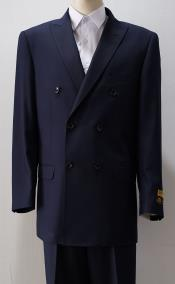 Peak Lapel Navy Six