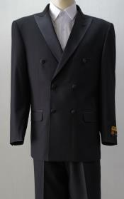 ID#KA29005 Mens Tuxedo Blacky Six Button One Chest Pocket Double Breasted Suits