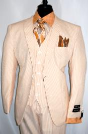 Notch Lapel Peach Single