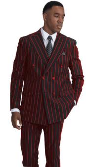 Black With Red Pinstripe
