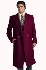 Six Button Dark Burgundy