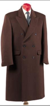 ID#AI29057 Alberto Nardoni Authentic Fully Lined Double Breasted Mens Wool Blend Long Dress Coat