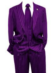 Purple Gangster Bold PinStripe