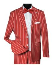 Red Gangster Bold PinStripe
