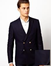 Navy Peak Lapel Double