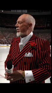 Black and Red Pinstripe