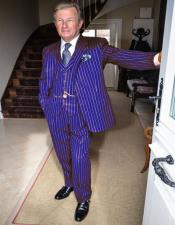 1940s Mens Purple and