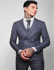 ID#KA29137 Double Breasted Slim Fit Wool 2020 New Formal Style! 4 Buttons Suit