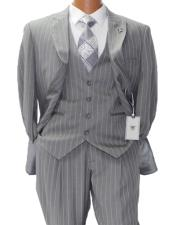 Gray w White Pinstripe