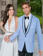 Sky Blue Tuxedo ~ Baby Blue Light Blue Tux Jacket and Vest and Pants