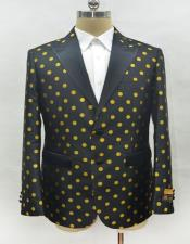Black and Gold Polk~Dot