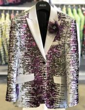 And Purple Blazer Sequin