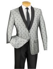 Put this in Polk Dot ~ Polka Dot Tuxedo Dinner Jacket Blazer Sport Coat