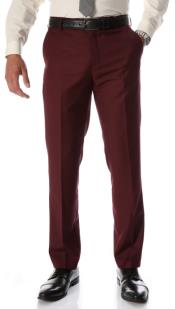 Burgundy Dress Slim Fit