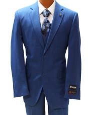 Stacy Adams Blue Vested
