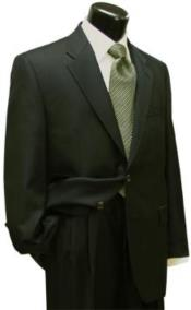 ID#KA29195 Mens Wool Fabric Dark Olive Green Suit
