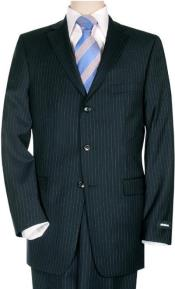 Dark Navy Blue Pinstripe
