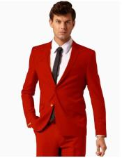 Wool Fabric Red Suit