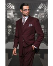 Burgundy Suit Separates Wool