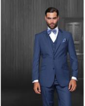 Wool Fabric Indigo Suit