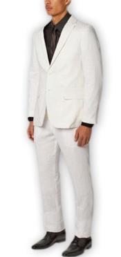 Wool White Suit By