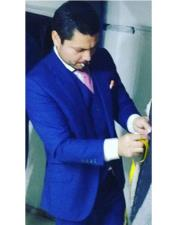 Wool Royal Blue Suit