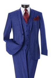 Mens Wool Royal Blue Suit