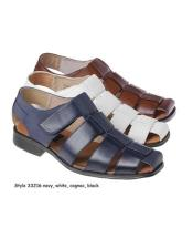 ID#KA29248 Sandals Leather Available Navy Blue or Cognac Upper
