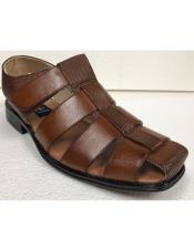 Cognac Brown Closed Toe