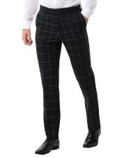 Regular Fit White Windowpane