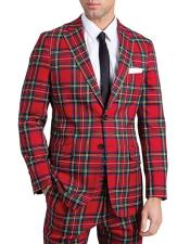 Red Tartan Suit Jacket
