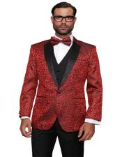 ID#AI29334 Red Fashion Prom / Wedding / Stage Plus Bowtie Also Available in Big and Tall Blazer