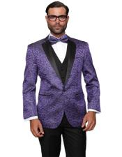 ID#AI29335 Fashion Purple Prom / Wedding / Stage Plus Bowtie Also Available in Big and Tall Blazer Suit Jacket