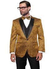 ID#AI29336 Fashion Prom / Wedding / Stage Gold Plus Bowtie Also Available in Big and Tall Blazer
