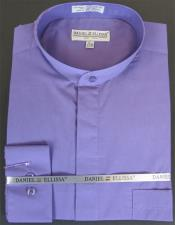 ID#KA29363 Mens French Cuff Daniel Ellissa Lavender Shirt