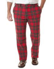 Slacks for Men Tartan