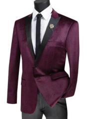 ID#KA29524 Plaid ~ Window Pane Velvet Tuxedo Velvet Dinner Jacket Sport Coat Blazer