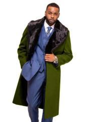 Alberto Nardoni Green Overcoat