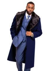 Navy Blue Overcoat ~